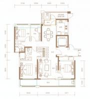 融创信达·政务壹号建筑面积约145㎡户型高层4室2厅145㎡