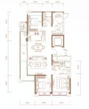 融创信达·政务壹号建筑面积约139平米户型高层4室2厅139㎡