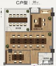 合肥启迪科技城创客空间C户型2室2厅96㎡