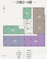 合肥启迪科技城D栋2-4层2073.6㎡