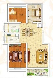 前城御澜湾H户型3室2厅105.6㎡