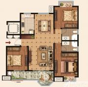 荣盛华府Y33室2厅137㎡