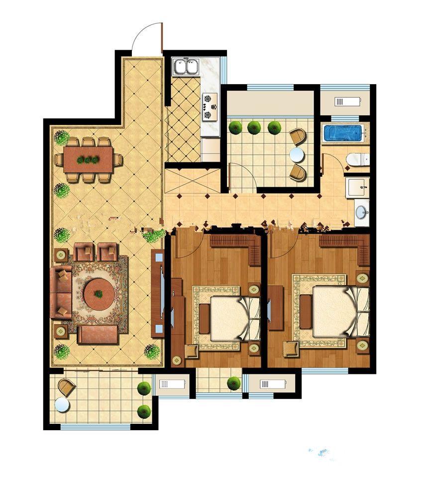 智诚御府三室3室2厅115平米