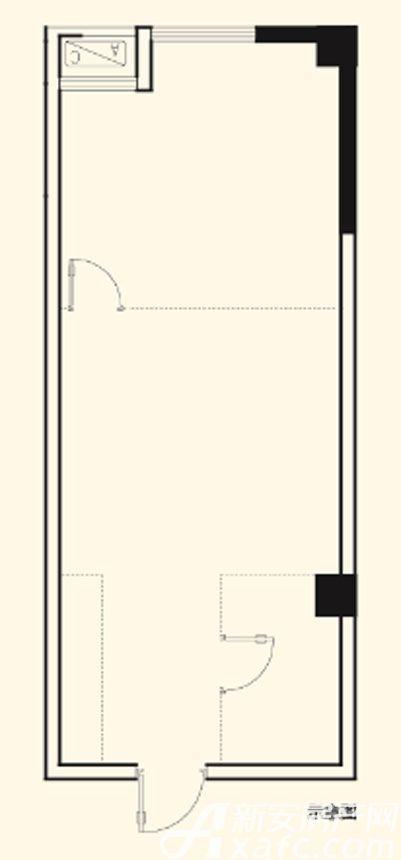 光明北部湾双子星座E02户型1室1厅58.46平米