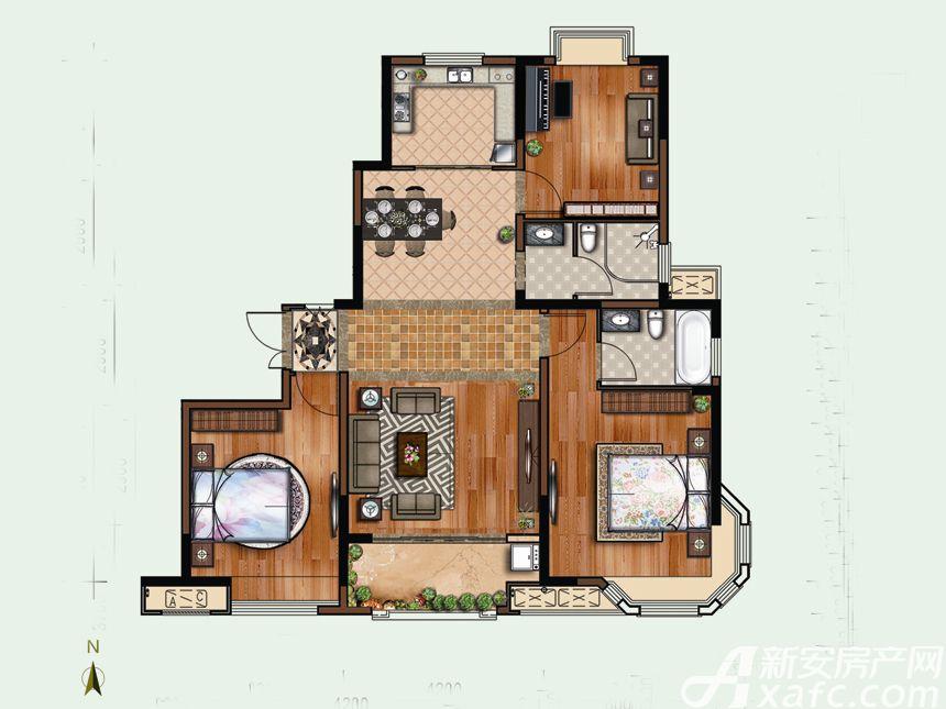 恒禾东尚10#F13室2厅115.92平米