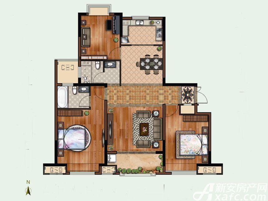 恒禾东尚10#F23室2厅116.31平米