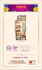 爱琴海公园G1户型3室2厅120㎡