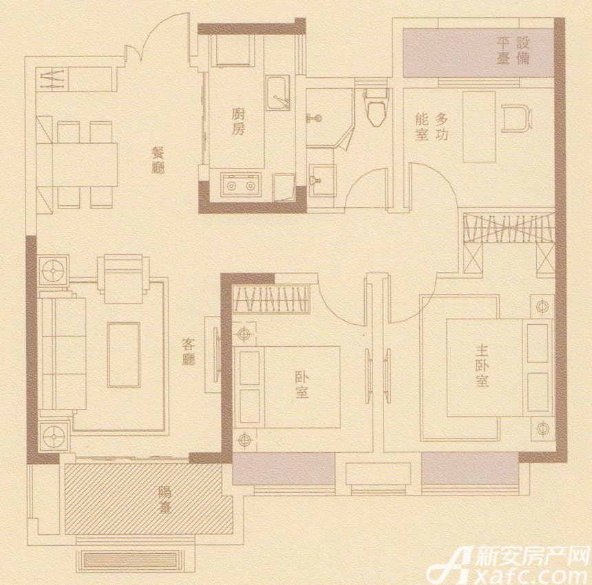 金隅南七里府逸户型3室2厅93平米