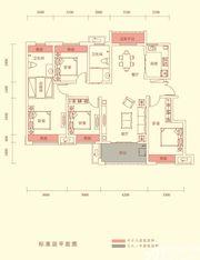 华盛南院Y1户型标准层平面图4室2厅134㎡