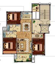 邦泰金域剑桥郡标准层中间套3室2厅120㎡
