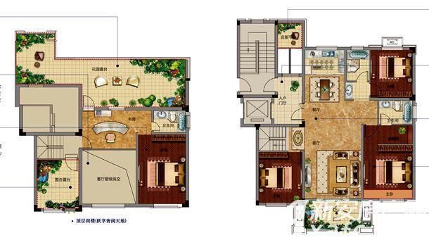 邦泰金域剑桥郡洋房户型4室3厅170平米
