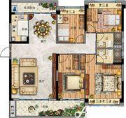 碧桂园天玺YJ143T—A4室2厅143㎡