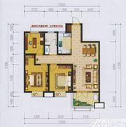 国际新城B户型3室2厅105㎡
