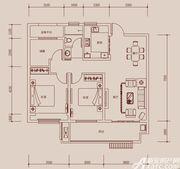 琥珀新天地C2户型3室2厅106㎡