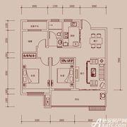 琥珀新天地E1户型3室2厅99㎡