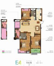 和顺名都城E4户型图3室2厅114.72㎡