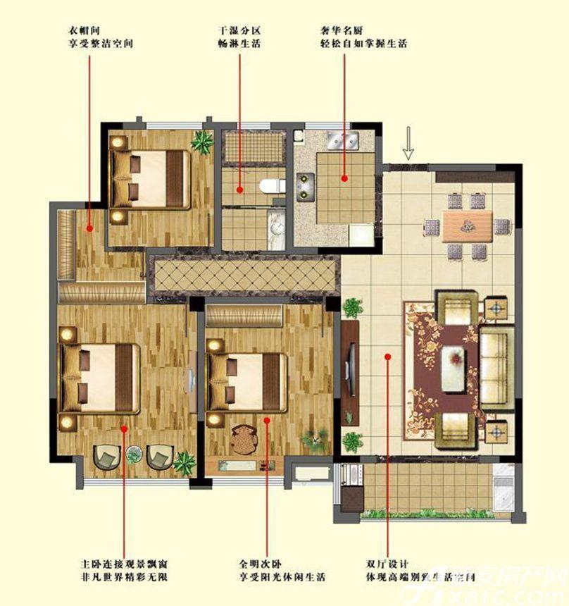 万成香格里拉C23室2厅129平米