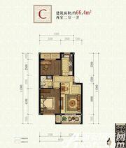 书香雅苑C2室2厅66.4㎡
