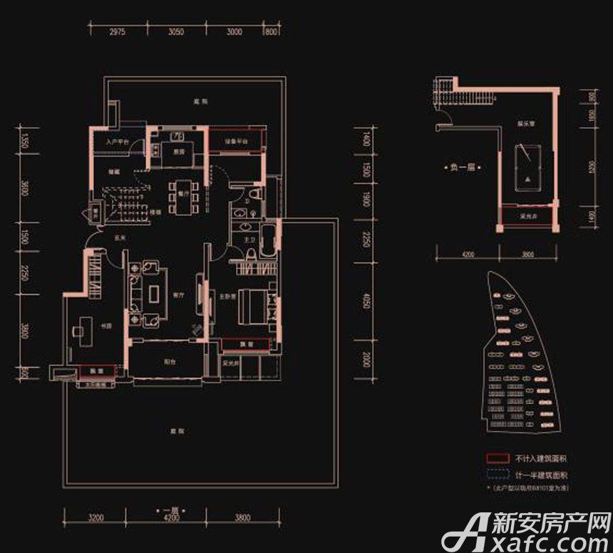 新华御府Y1户型3室2厅130平米