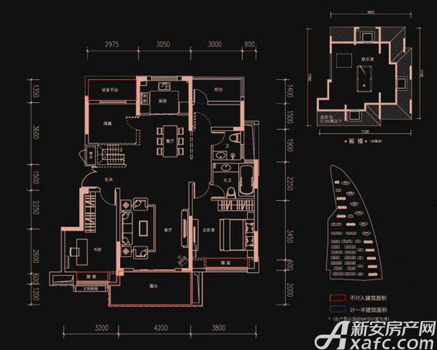 新华御府Y4户型3室2厅110平米