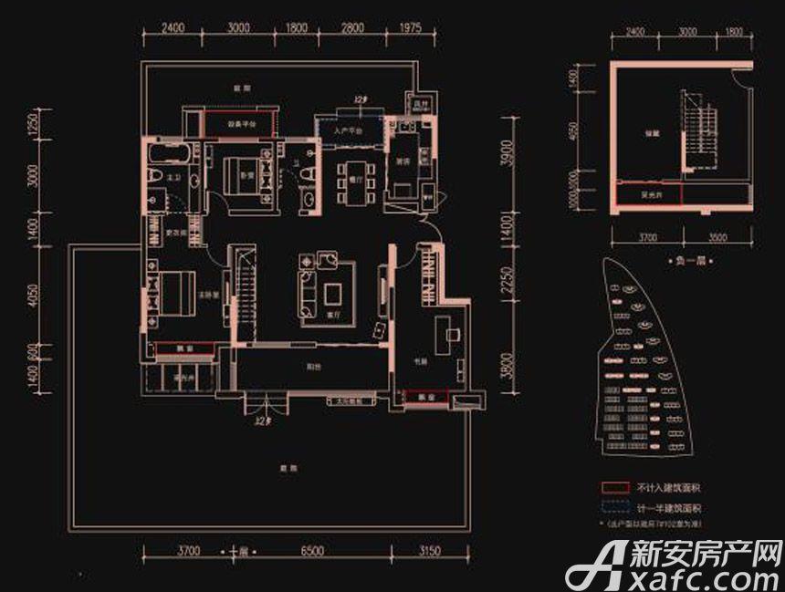 新华御府Y5户型3室2厅140平米