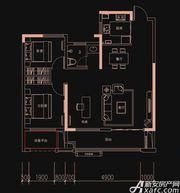 新华御府G2户型2室2厅100㎡