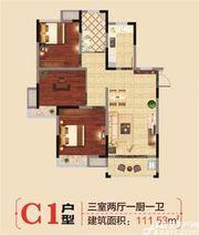 翰林学府C13室2厅111.53㎡