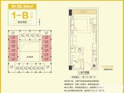 和昌中央悦府1-B1室1厅36.94㎡