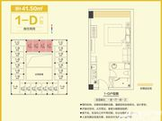 和昌中央悦府1-D1室1厅41.5㎡