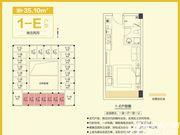 和昌中央悦府1-E1室1厅35.1㎡