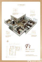 润城豪园F13室2厅122.2㎡