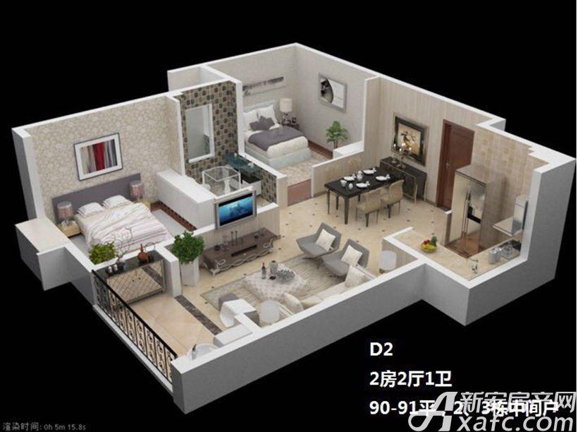 枫林佳园D22室2厅90平米