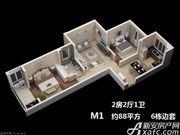 枫林佳园M12室2厅88㎡