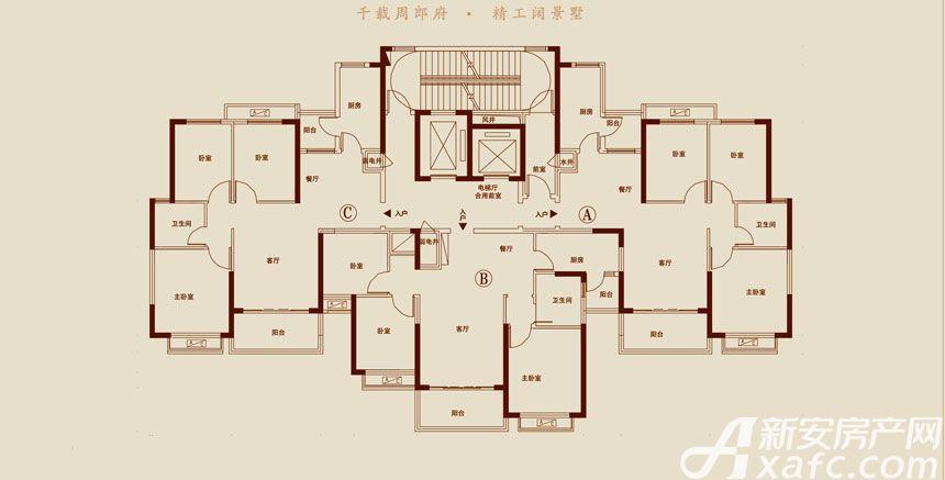 恒大悦龙台20#21#24# B户型3室2厅106.62平米