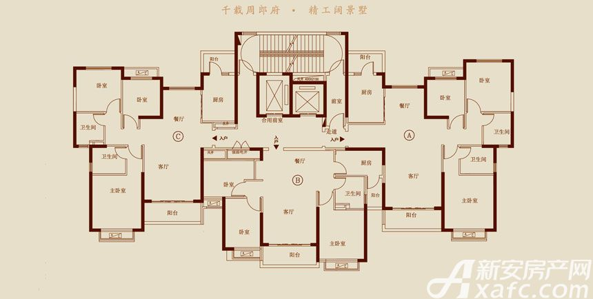 恒大悦龙台19#20#21#24# B户型3室2厅103.59平米