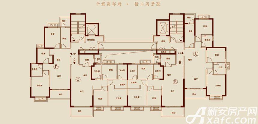 恒大悦龙台23#27# D户型3室1厅106.31平米
