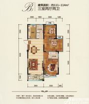 鼎鑫幸福城B53室2厅114㎡
