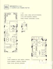 三巽琅琊府(三悦澜山)H户型4室2厅161.18㎡