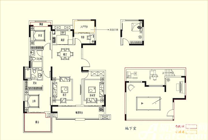 三巽琅琊府(三悦澜山)C2户型4室2厅138.59平米