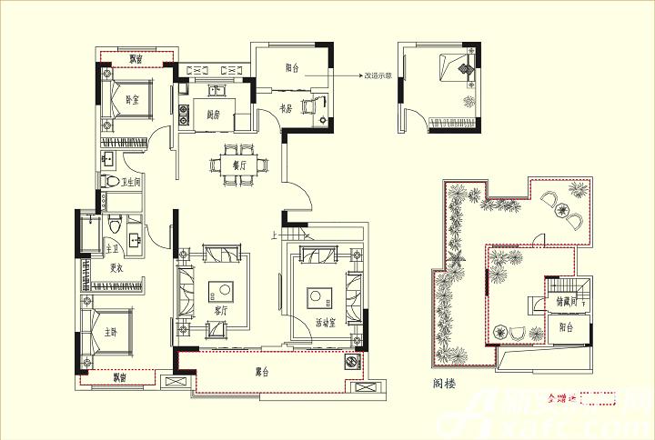三巽琅琊府(三悦澜山)C34室2厅134.18平米