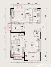 长虹世纪荣廷C户型3室2厅93㎡