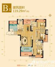 绿地滨江壹号B14室2厅119.29㎡