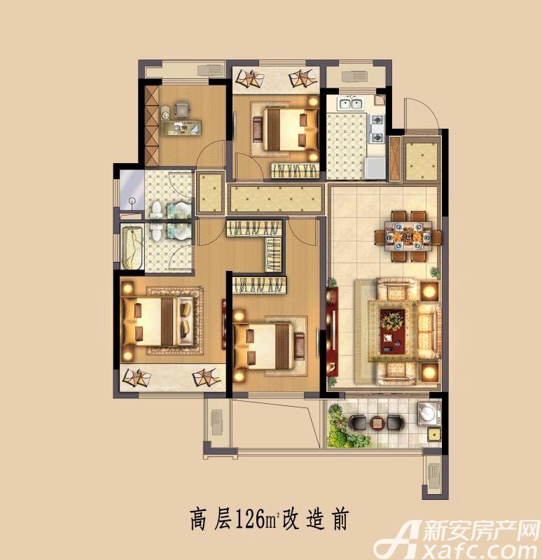 中南·熙悦高层4室2厅126平米