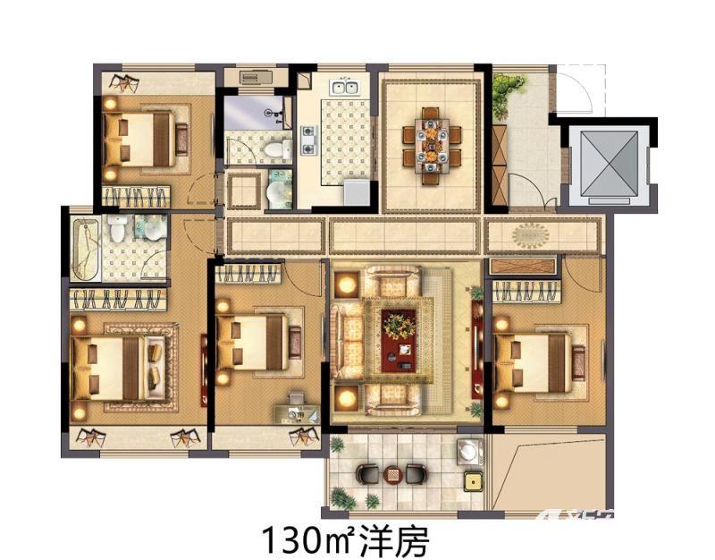 中南·熙悦洋房4室2厅130平米