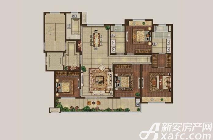 伟星·壹号院B34室2厅141平米