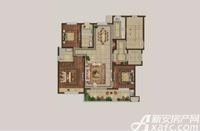 伟星·壹号院A33室2厅118平米