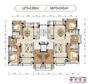 名邦鲲鹏湖L户型3室2厅130㎡