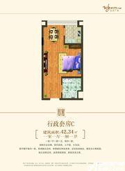 永利广场公寓C户型1室1厅42㎡