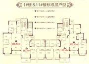 恒大滨江左岸1#11#户型3室2厅110㎡