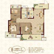 新城·悦府B户型3室2厅115㎡